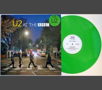 U2 at the BBC LP green vinyl record